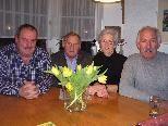 Das florale Quartett im Element - Helmut Fitz, Josef Blaser, Ruth Brunzel und Kurt Almer.