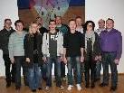 Der neu gewählte Vorstand des Musikvereins Bildstein rund um Obmann Michael Lenz.