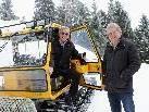 Die Tourismus-Obmänner Georg Stadler und Hermann Gmeiner sorgen für gut präparierte Winterwanderwege in der Pfänderregion.