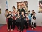 Die junge Truppe der Kampfkunstschule Lochau.