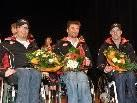 Ehre, wem Ehre gebührt: Die Rollstuhlsportler Robert Fröhle, Philipp Bonadimann und Dietmar Dorn.