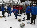 Eisstocksport vom Feinsten am Samstag in Rankweil.