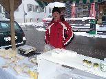 Feinste Käsespezialitäten wurden auf dem Markt zum Verkauf angeboten