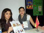 Fulya und Viktoria informieren über den Spanischunterricht