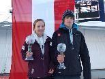 Katrin Ibele und Thomas Steu wurden im Gesamtweltcup Dritte.