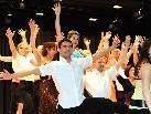 Mit schwungvollen Tanzeinlagen begeisterte die Tanzgruppe Koblach.