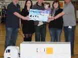 Patenkind Angelina erhielt 3000 Euro vom Handballklub BW Feldkirch.