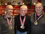 Peter Mungenast, Heinz Hämmerle, Sven Kolb und Jan Jagiello holten sich die verdienten Medaillen.