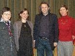Simone Fürnschuß (2.v.li) mit den Initiatoren Cilli Egger, Margret Müller und Michael Tinkhauser