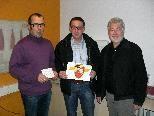 Spendenübergabe durch den AFZ, MOHI-GF Wolfgang Breuss,AFZ-Päsident, OV Mähr  (vl.n.r)