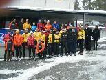 Teilnehmer/innen des 1. Silvesterlaufes auf den Muttersberg