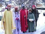 v.li.: Andreas, Sarah, Anna, Julian und Betreuerin Simone Schuler
