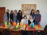Engagierte Schülerinnen der HLW Marienberg
