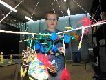 Lorenz ist ganz begeistert von der Kunst von Haegue Yang