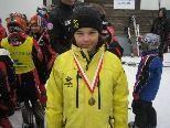 Nachwuchsrennläuferin Nina Martin fuhr auf den 4. Rang