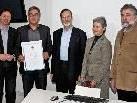 Prof. Dr. Ivo Grazadei, Univ.-Prof. Dr. Harald Sparr,  Rektor Prof. Dr. Herbert Lochs, Dr. Karen Pierer und Vizerektor Prof. Dr. Norbert Mutz