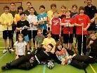 """Die """"Junior-Vikinger"""" mit ihrem Coach"""