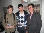 Die jungen Forscher vom Gymnasium Blumenstraße: Johannes Karg, Christian Nagel, Julian Hefel.