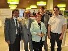 Gerardo Rojas, Reinhard Bertsch, Birgit Köhlmeier, Bgm. Kurt Fischer und Manfred Stemmer.
