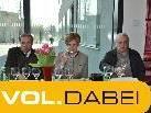 Walter Pfanner, Marie-Luise Dietrich und Gebi Salzmann sorgten für den exakten Ablauf der Weinprämierung.