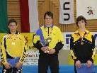74kg Klasse von Vbg. Ringern beherrscht v.li.: Simma Johannes, Peter Dominic, Ludescher Johannes