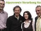A. Schmidt (2.v.l.),G. Kaufmann (Naturschutz 1.v.l), E. Mathis (Jugend), A. Burtscher (Finanzen)