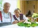 Anneliese und Fritz Wildner in schöner Harmonie nach 70 Ehejahren.