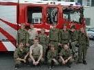 Auch der Feuerwehrnachwuchs freut sich über das neue Einsatzfahrzeug