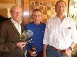 Bestes Schach-Seniorenteam: Mischa Ignjatovic,  Manfred Riedmann und Erich Peterlunger.