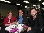 Dan Solbach, Sebastian Engelhofer und Künstler Tobias Kaspar