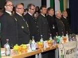 Das ÖKB-Bundespräsidium mit Landespräsident Obstlt Alwin Denz (1. v. li.)