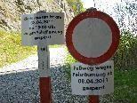 Der Klettergarten an der Ill ist wegen Felsräumung gesperrt