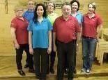 Der Vorstand der Rütner Chorgemeinschaft mit der neuen Chorleiterin Barbara Kiefner-Vecsey (v.l.)