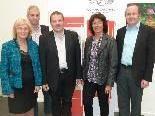 Der neue VHS-Vorstand: Margarethe Ruff, Rudolf Hirnböck, Günter Mathis, Agnes Jäger und Karl Dobler