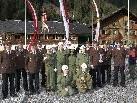 Die Jugendfeuerwehr Partenen mit ihren Betreuern und der Vereinsspitze.