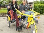 Die Lebenshilfe nimmt mit den Spezialrädern am Benefiz-Radeln in Hard teil.