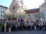 Die Teilnehmer auf dem Brixener Hauptplatz