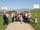 Die Wandergruppe bei der Grenzüberschreitung von Vorarlberg nach Liechtenstein