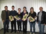 Die vier Thüringer Musiktalente mit Bgm. Mag. Harald Witwer und GF Markus Winsauer-Winkler