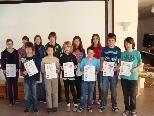 """Diese Schüler(innen) kamen beim """"Känguru der Mathematik"""" unter die """"Top 300"""" Vorarlbergs."""