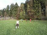 """Fc Zwischenwasser, mit Stürmer Simon """"Mary"""" Vonblon, beim Training in Batschuns!"""