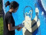 Graffitis zur Verschönerung