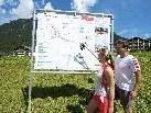 In Gaschurn wurden Lauf- und Nordic Walking Infotafeln angebracht.