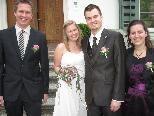 In der Villa Faleknhorst gaben sich Sandra Jicha und Fabian Hußl das Jawort