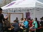 Jugendliche im Erlach erarbeiteten mit OJA und dem VAI das Projekt Freiluftwohnzimmer.