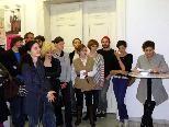 KunststudentInnen mit Prof. Brigitte Kowanz