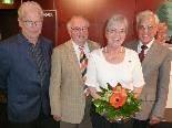 LO Gottfried Feurstein mit Elfriede Häberle, Obmann Werner Gächter und Gebhard Schneider (v.r.)