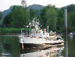 Schiffsmodelle werden am Ostermontag das Naturbad Untere Au befahren.