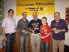 """Siegerbild des """"Schach-Triathlon"""" mit Obmann Manfred Mayr, Peter Ladner, Peter Mittelberger, Stefan Rathaj und Hans Rigg."""