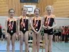 Siegreiche Mannschft AK9: Maja Nicolic, Magdalena Irgang, Lena Mittelberger, Lina Scheyer (v.l.)